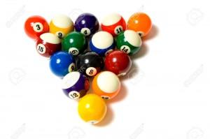 Pool Balls on white